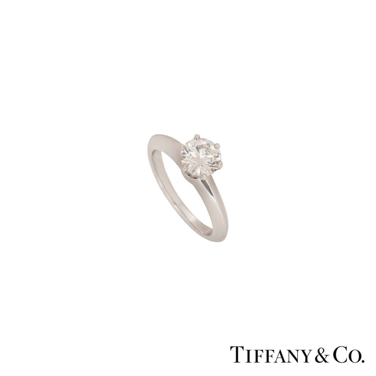 Tiffany & Co. Platinum Diamond Setting Ring 0.86ct I/VS1 XXX